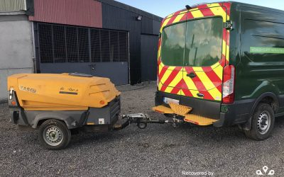 Compressor stolen from London – recovered from Ireland