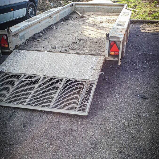 Ifor Williams Twin Axle Plant Trailer stolen and recovered in South Yorkshire