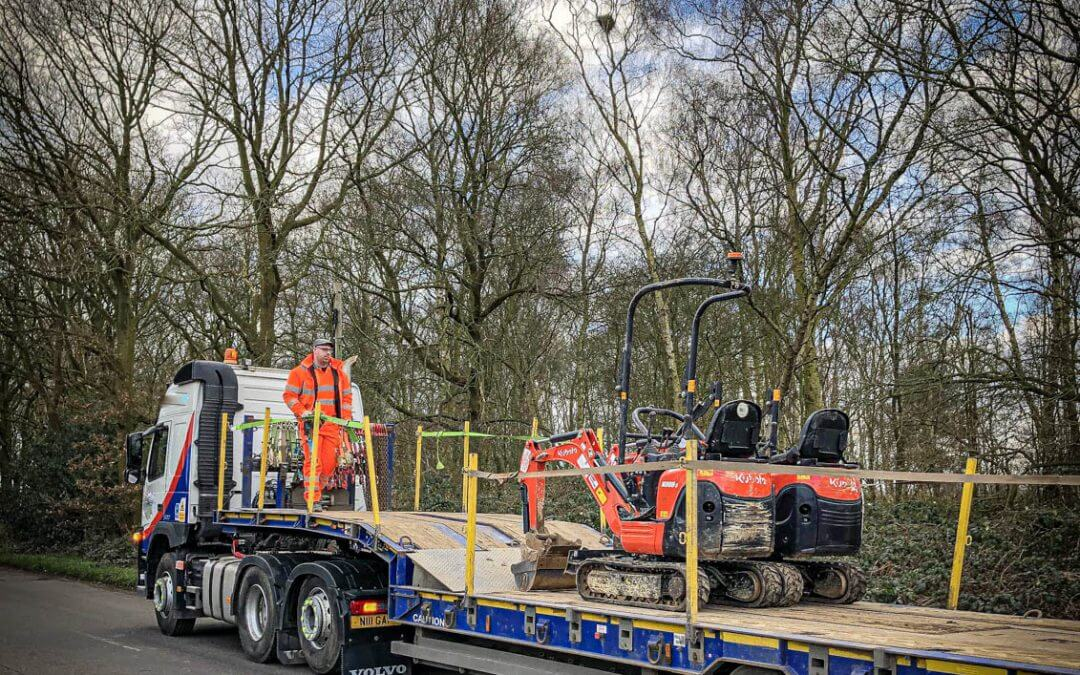 2x Kubota Micro Excavators Stolen in Leicestershire recovered in Nottinghamshire