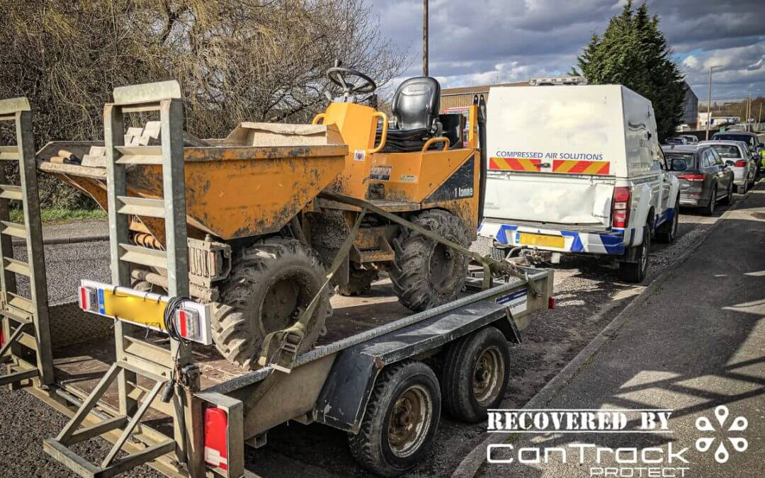 Thwaites HD1000 Site Dumper Stolen from West Yorkshire recovered in South Yorkshire.