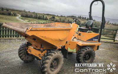 Stolen Thwaites 3 Tonne dumper recovered in Northern Ireland